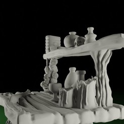 Table01.jpg Download STL file SWAMPS OF MORDHELL - Witches Table • 3D printable model, TeamSausageDesign