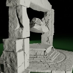 Altar02.jpg Download STL file Swamps of Mordhell - Altar and Sacrifice Stone • 3D printable template, TeamSausageDesign