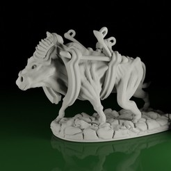 Ox01.jpg Download STL file SWAMPS OF MORDHELL - OX / Beast of Burden • Template to 3D print, TeamSausageDesign
