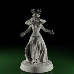 Wiccan01.jpg Download STL file Swamps of Mordhell - Wiccan / Witch • 3D printable model, TeamSausageDesign