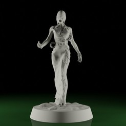 FollowerFemale01.jpg Download STL file SWAMPS OF MORDHELL - Female Follower / Character • 3D printer object, TeamSausageDesign