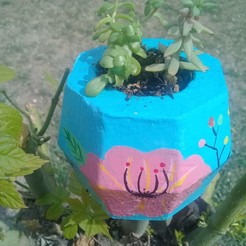 20200924_144027.jpg Download STL file mold, pot, concrete, plants, garden, pot. • 3D printer design, jdhuere