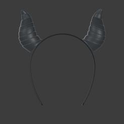 2020-10-11 (22).png Download STL file Isekai Maou to Shoukan Shoujo no Dorei Majutsu Horned headband ( devil ) Cosplay • 3D printable design, vextructor