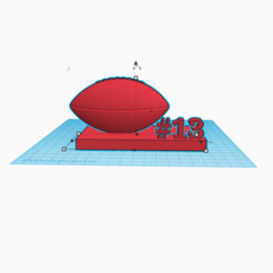 Download free 3D printer templates football, travistwitty898