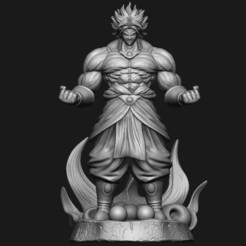 Download 3D printer templates Broly - DragonballZ, luigidesign