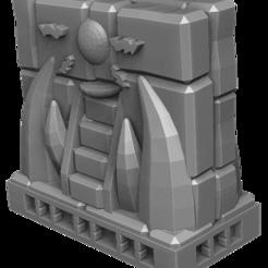 Muro_Integro_v4.png Télécharger fichier STL gratuit FANGS - Mur - Temple d'ornement • Design à imprimer en 3D, EdiTableGames