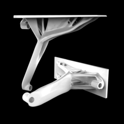 Download free 3D model Generative shelf bracket ( Heavy duty), rishabhgupta_id18