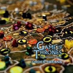 Download STL file A Game of Thrones The Board Game Order Tokens Full Set, mattcosacos
