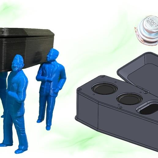 Download free STL file bluetooth speaker coffin • 3D printing model, TB3D