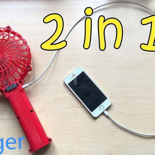 Download free STL file handheld fan 2 in 1 Super convenient • 3D printing design, TB3D