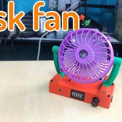 Download free STL file Desk Fan cute • 3D print design, TB3D