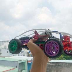 Download free STL file Buggy Car Rc • 3D printable template, TB3D