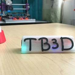 a6.jpg Download free STL file Name tag with Leds and alphabet • 3D printing object, TB3D