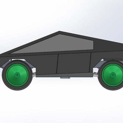 cyber.jpg Download free STL file RC car Cybertruck • 3D printing object, TB3D