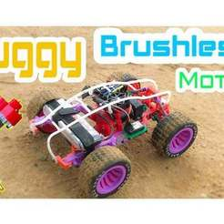 Download free STL file Buggy Car rc Brushless • 3D printing template, TB3D