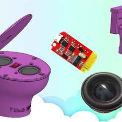 Untitled-1.jpg Download free STL file Toilet Speaker bluetooth • 3D printer design, TB3D