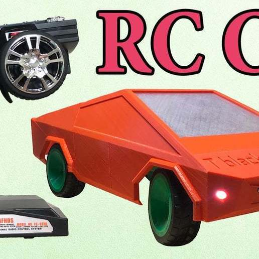 dasd1.jpg Download free STL file RC car Cybertruck • 3D printing object, TB3D