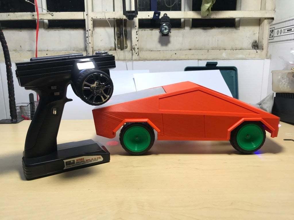 2020_06_11_20_55_IMG_9122.JPG Download free STL file RC car Cybertruck • 3D printing object, TB3D