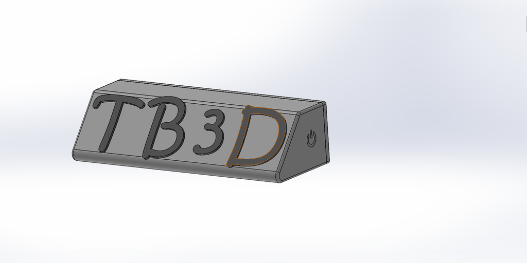 1.png Download free STL file Name tag with Leds and alphabet • 3D printing object, TB3D