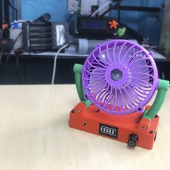 anh dai dien.JPG Download free STL file Cute Desk Fan • 3D printable template, TB3D
