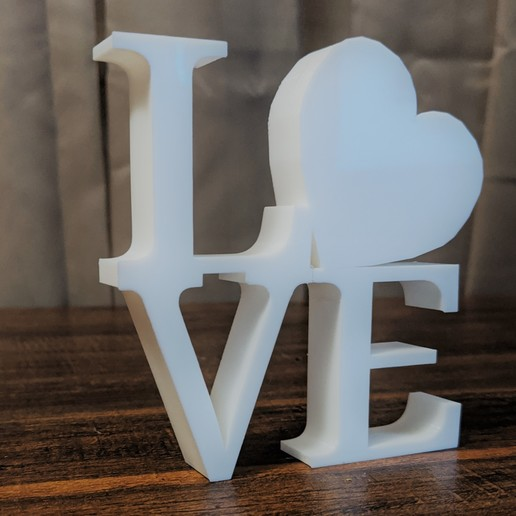 Download free 3D printer designs Love Decor, twogirlsonefrs