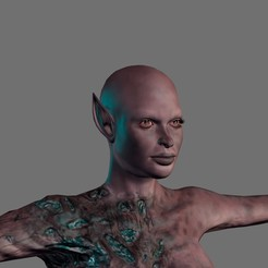 Download 3D model Animated Zombie Elf-Rigged 3d game character Low-poly 3D model, igorkol1994