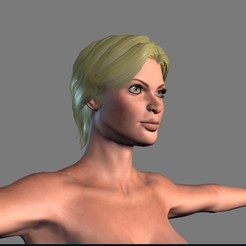 Download 3D printing templates Animated Naked woman-Rigged 3d game character Low-poly 3D model, igorkol1994