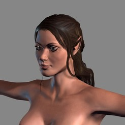 Download 3D printer designs Animated Naked Elf Woman-Rigged 3d game character Low-poly 3D model, igorkol1994