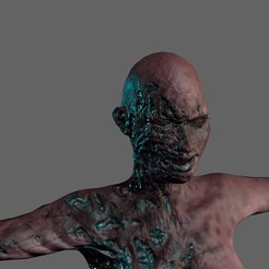 Download STL Animated Zombie woman-Rigged 3d game character Low-poly 3D model, igorkol1994