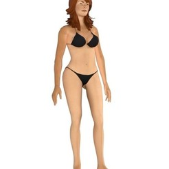 1.jpg Download STL file Woman in bikini Rigged game character Low-poly model 3D model • 3D printing template, igorkol1994