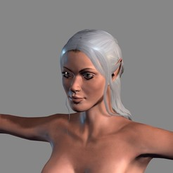Download 3D printer files Animated Elf woman-Rigged 3d game character Low-poly, igorkol1994
