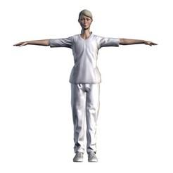 1.jpg Télécharger fichier STL Infirmière femme - Personnage de jeu en 3D • Modèle pour impression 3D, igorkol1994