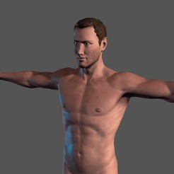 Download 3D model Animated Naked Man-Rigged 3d game character Low-poly 3D model, igorkol1994