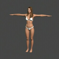 1.jpg Download STL file Movie actress Jessica Alba in bikini -Rigged 3d character • 3D print object, igorkol1994