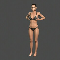 1.jpg Download STL file Beautiful Woman -Rigged and animated character for Unreal Engine Low-poly 3D model • 3D printable design, igorkol1994