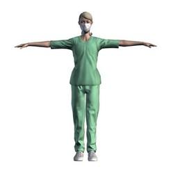 1.jpg Télécharger fichier STL Infirmière - Modèle 3D d'un personnage de jeu de rôle • Modèle pour impression 3D, igorkol1994