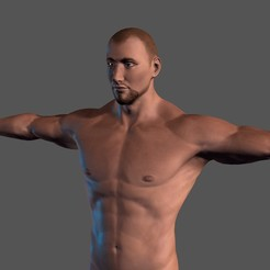 1.jpg Download STL file Animated Naked Man-Rigged 3d game character Low-poly 3D model • 3D printable object, igorkol1994