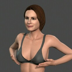 0.jpg Download STL file Beautiful Woman -Rigged and animated for Unity • 3D print model, igorkol1994