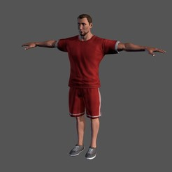 Download 3D model Animated Sportsman-Rigged 3d game character Low-poly 3D model, igorkol1994