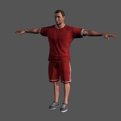 1.jpg Download STL file Animated Sportsman-Rigged 3d game character Low-poly 3D model • 3D printer design, igorkol1994