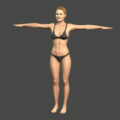 1.jpg Download STL file Beautiful Woman -Rigged and animated for Unreal Engine • 3D printable design, igorkol1994