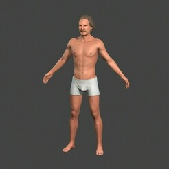 1.jpg Download STL file Beautiful Man -Rigged and animated for Unity • 3D print template, igorkol1994