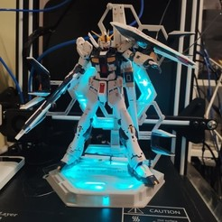 Descargar archivo 3D RG Nu Gundam LED Stand, kaieitenjitsu