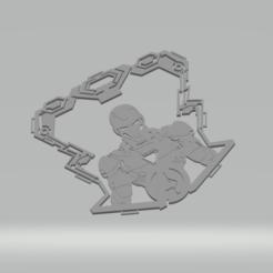ironman lb a.png Download STL file Ironman LED lightbox • 3D printer design, kaieitenjitsu