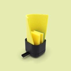 Sponge_4.jpg Download STL file Sponge and cloth holder • Object to 3D print, JohannesStraka