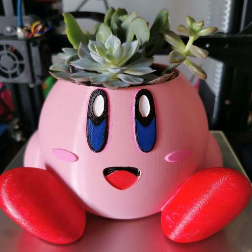 IMG_20201106_125407_3.jpg Download free STL file Kirby planter - easy to print • Template to 3D print, emily1713