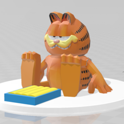 GarfieldandLasagnapic.PNG Download free STL file Garfield and lasagna • 3D printer object, emily1713