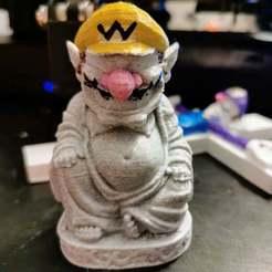 IMG_20200920_001814.jpg Télécharger fichier STL gratuit Wario Buddha • Plan imprimable en 3D, emily1713