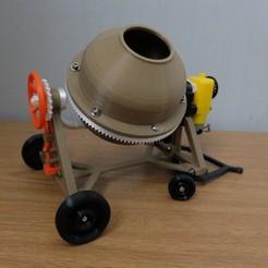 Download 3D printer designs concrete mixer 3D printed, MPPSWKA7