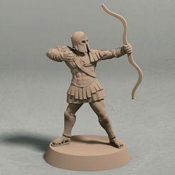 Realm of Eros soldier archer pose 1 front.jpg Télécharger fichier STL Royaume d'Eros - pose de l'archer 1 miniature - fichier STL • Design pour impression 3D, LegendBuilds